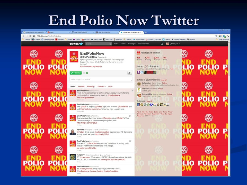 End Polio Now Twitter