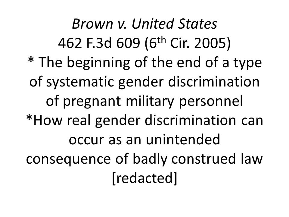 Brown v. United States 462 F.3d 609 (6 th Cir.