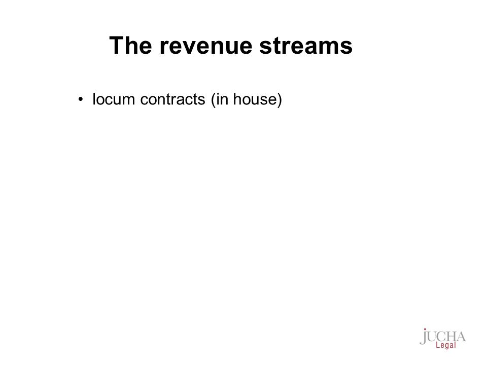 locum contracts (in house) The revenue streams