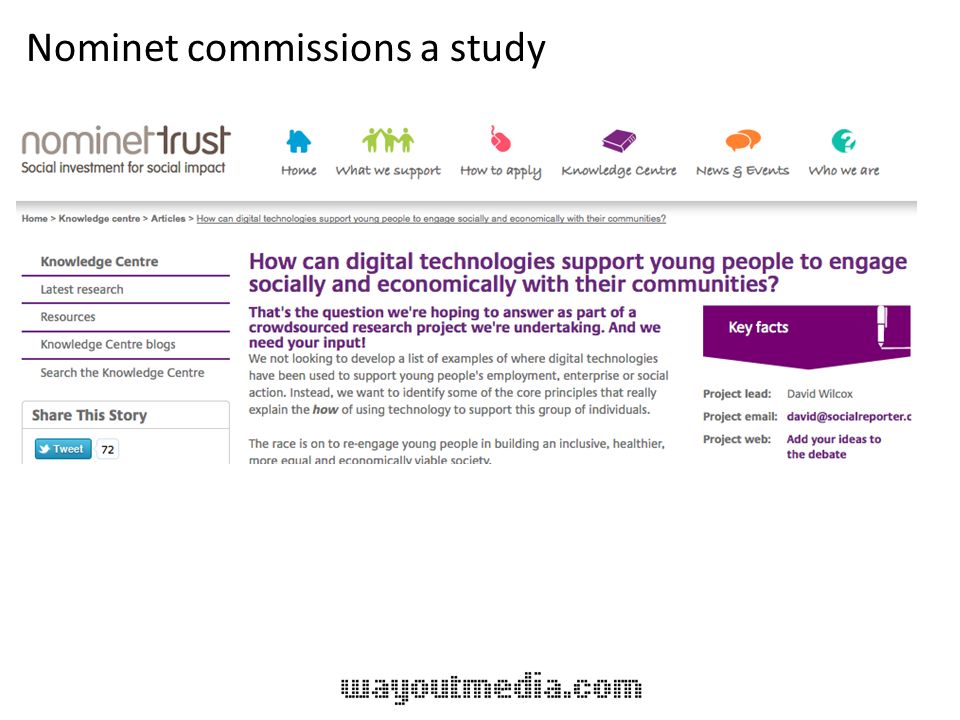 Nominet commissions a study