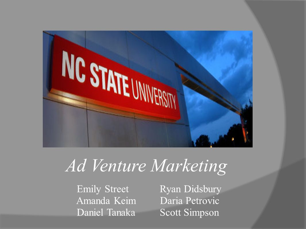 Emily Street Ryan Didsbury Amanda Keim Daria Petrovic Daniel Tanaka Scott Simpson Ad Venture Marketing