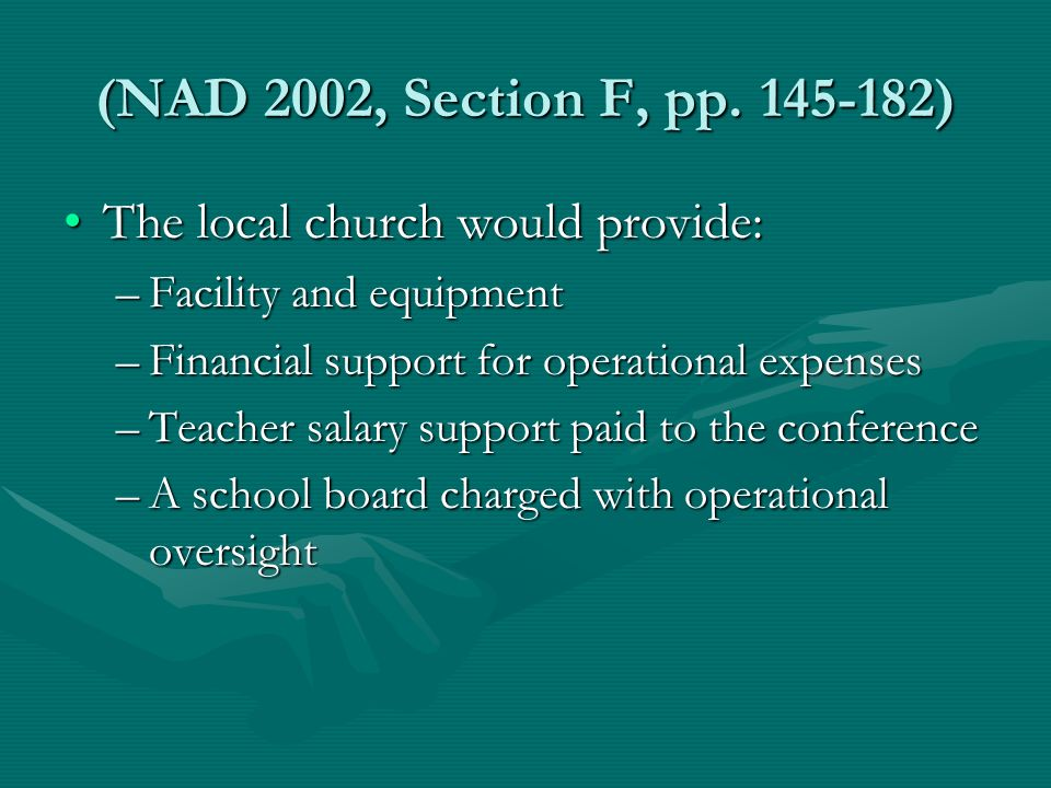 (NAD 2002, Section F, pp.