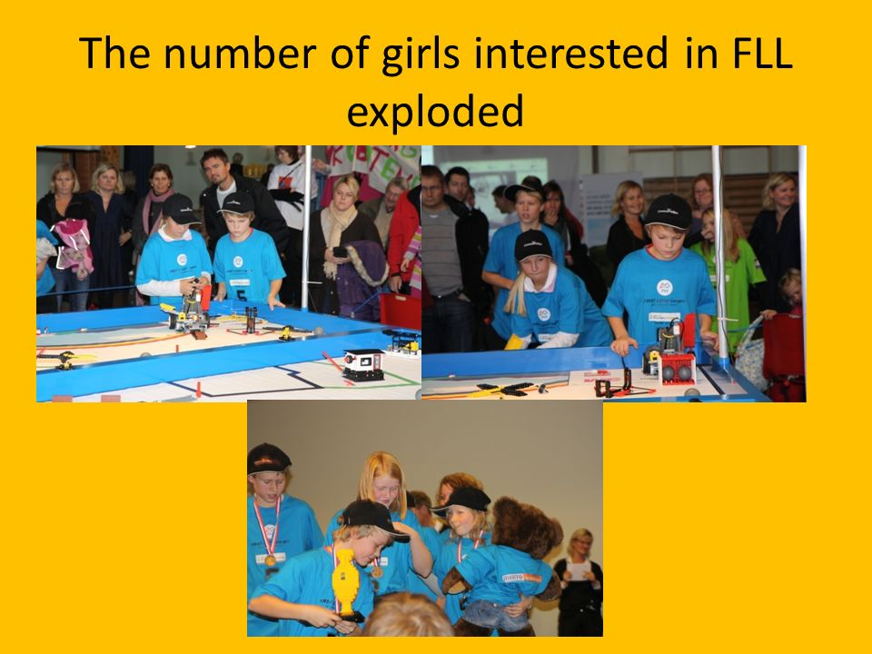 The number of girls interested in FLL exploded