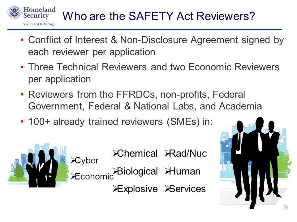 Presenters Name June 17, 2003 Who are the SAFETY Act Reviewers.