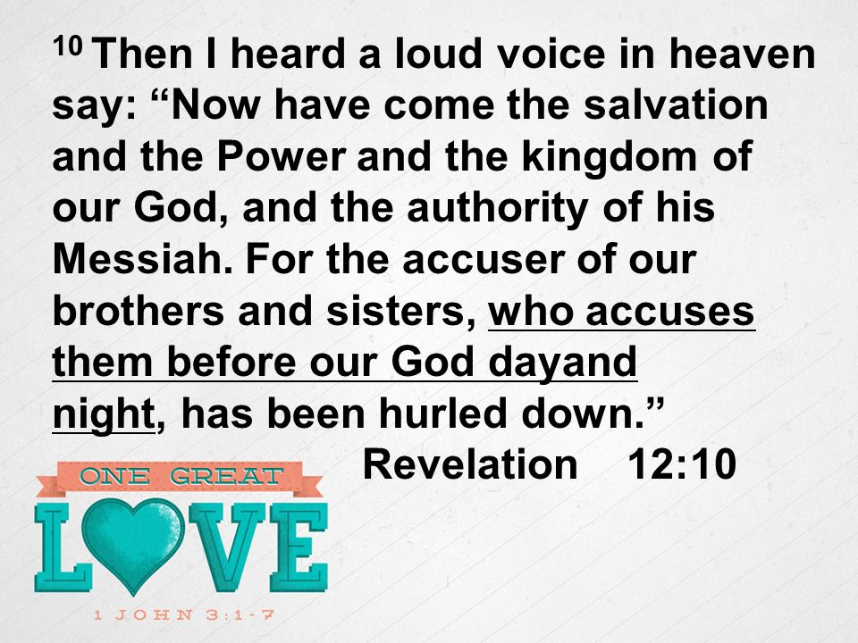 10 Then I heard a loud voice in heaven say: Now have come the salvation and the Power and the kingdom of our God, and the authority of his Messiah.