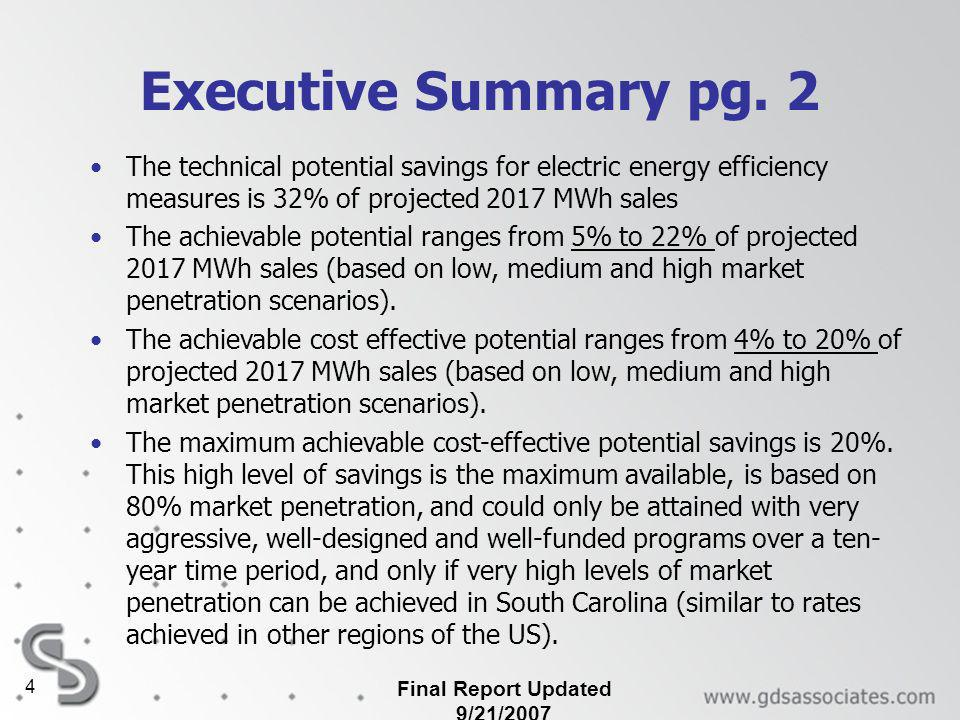Final Report Updated 9/21/2007 4 Executive Summary pg.