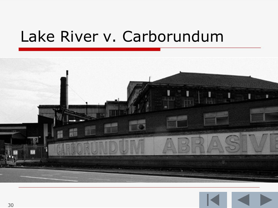Lake River v. Carborundum Restatement §