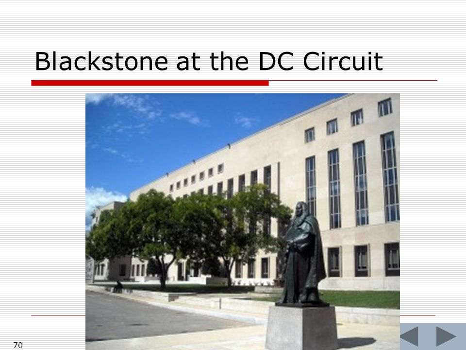 Blackstone at the DC Circuit 70