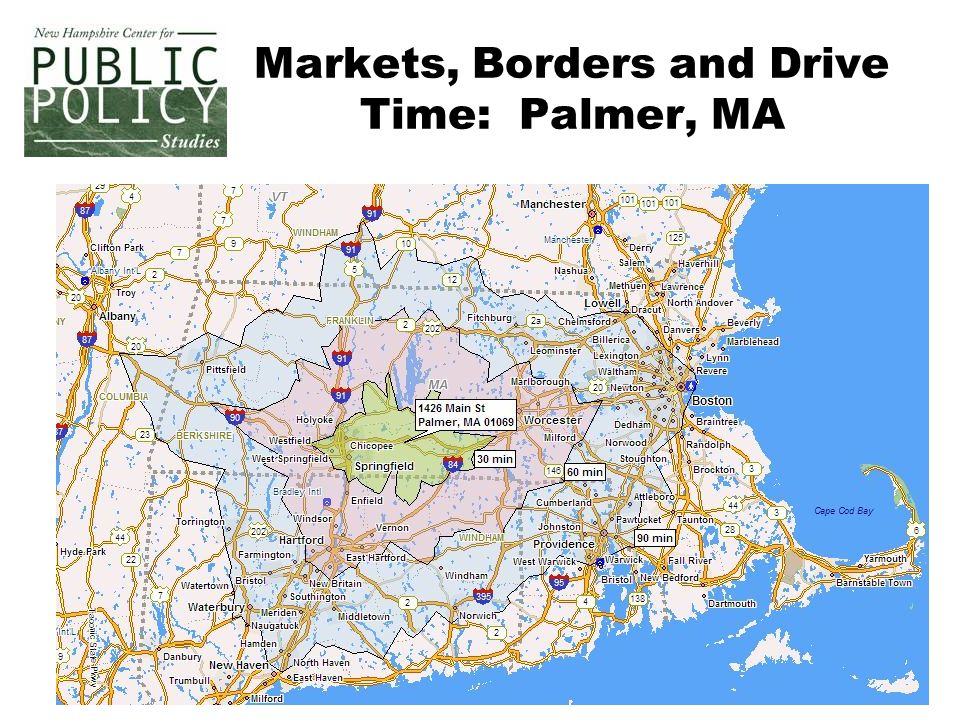 10 Markets, Borders and Drive Time: Palmer, MA