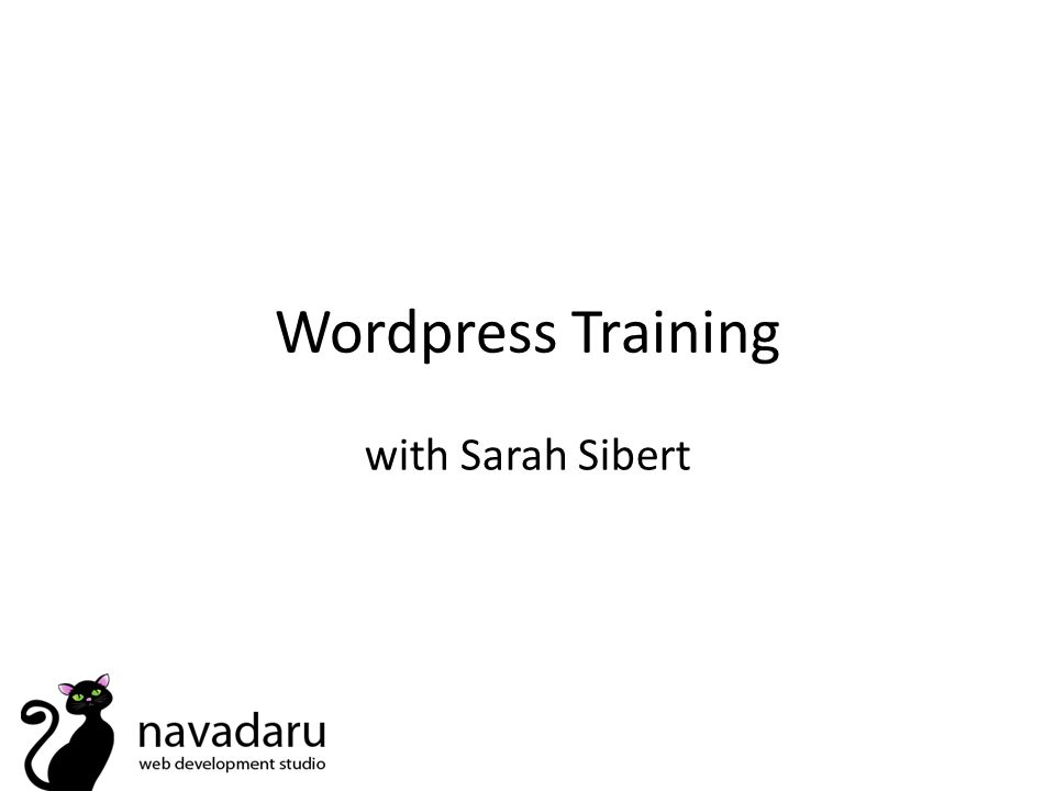Wordpress Training with Sarah Sibert
