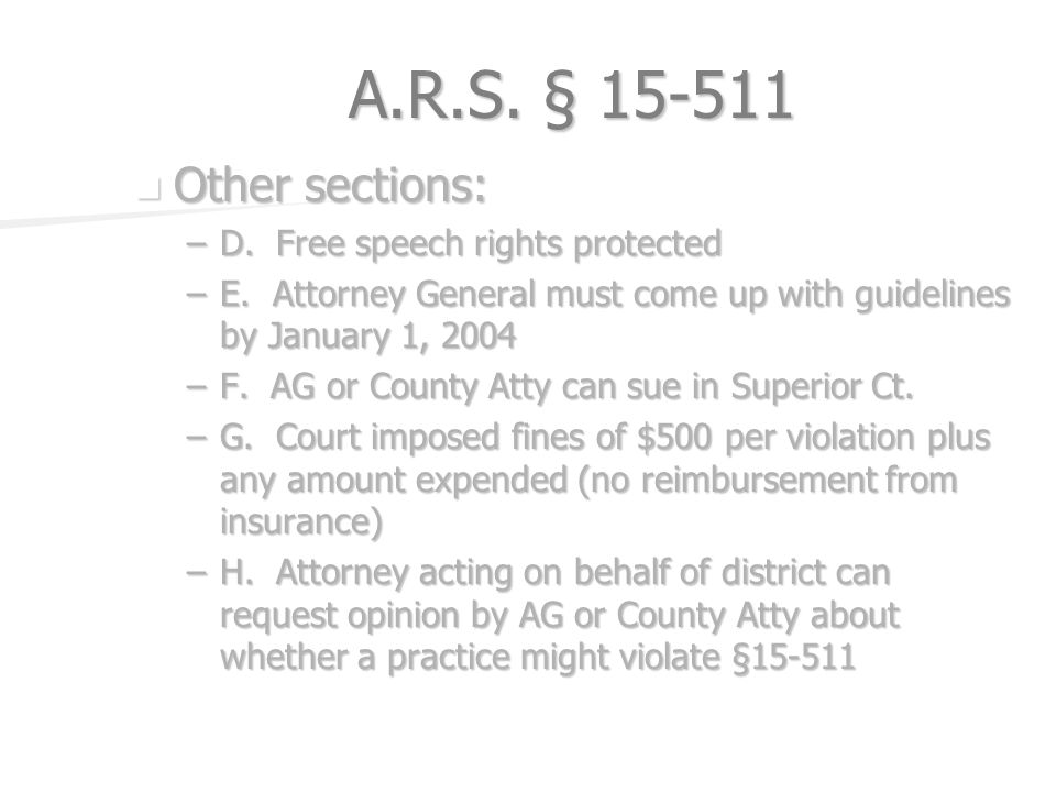 A.R.S. § Other sections: Other sections: –D.