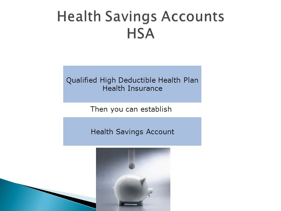 Qualified High Deductible Health Plan Health Insurance Health Savings Account Then you can establish