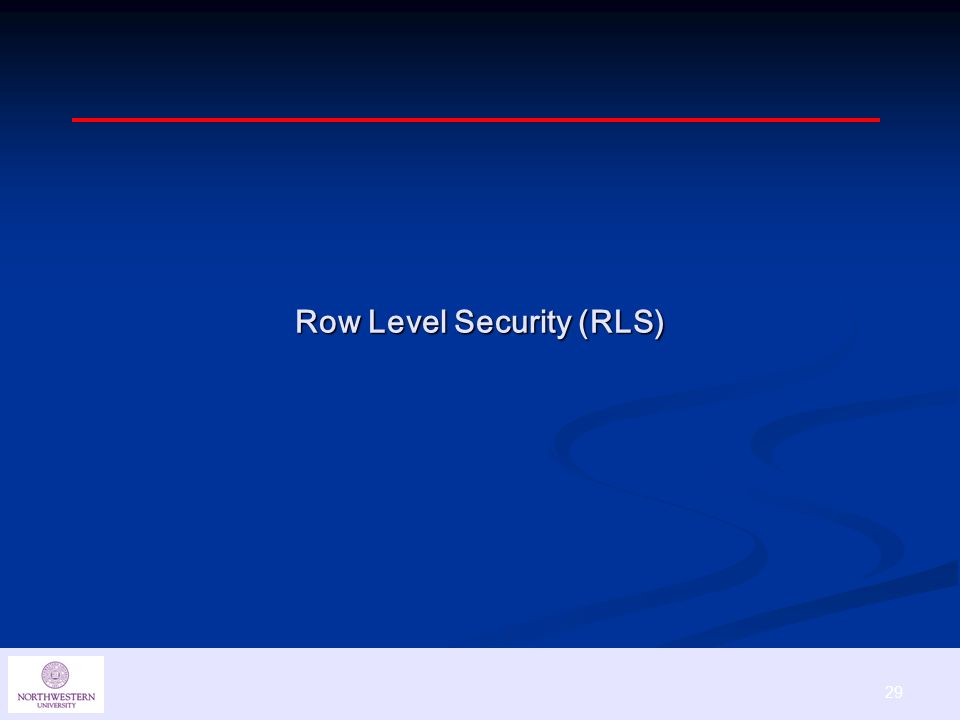 29 Row Level Security (RLS)