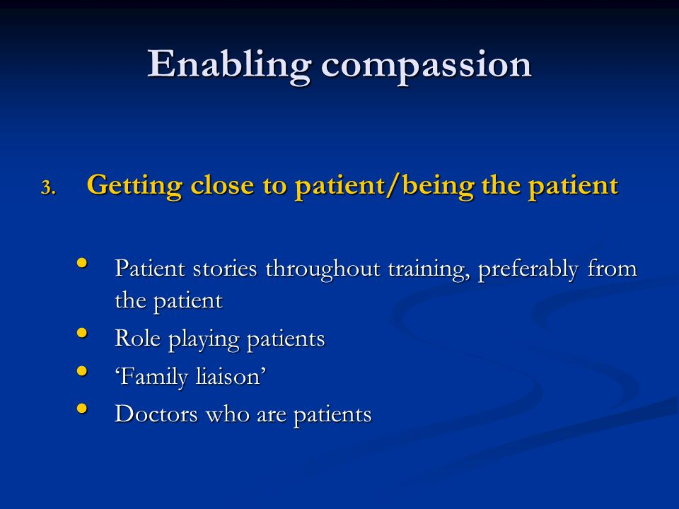 Enabling compassion 3.