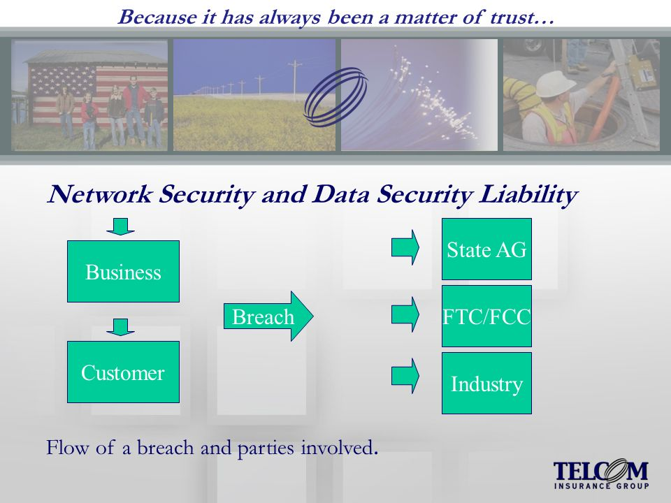 Because it has always been a matter of trust… Network Security and Data Security Liability Flow of a breach and parties involved.
