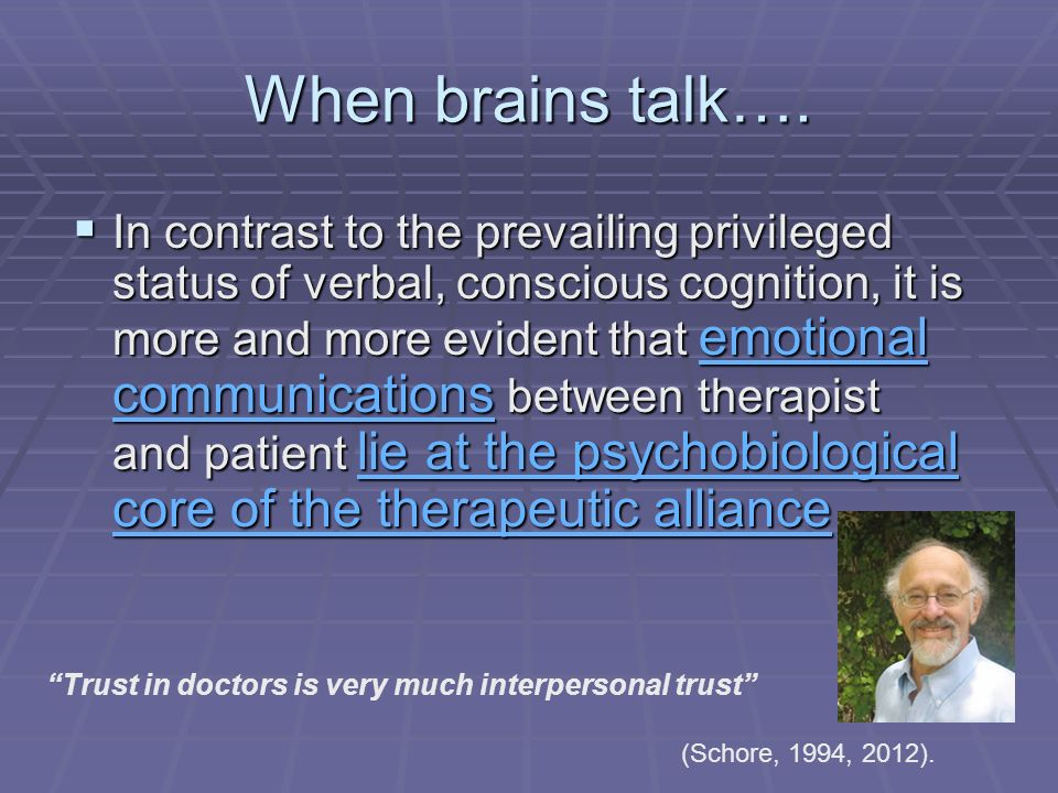 When brains talk….