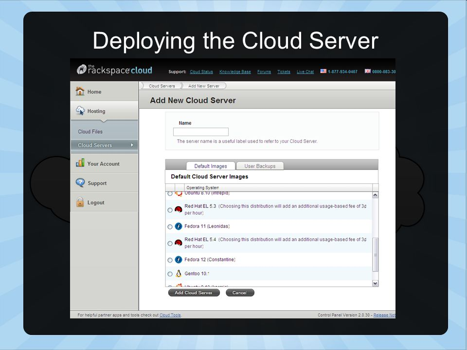 Deploying the Cloud Server