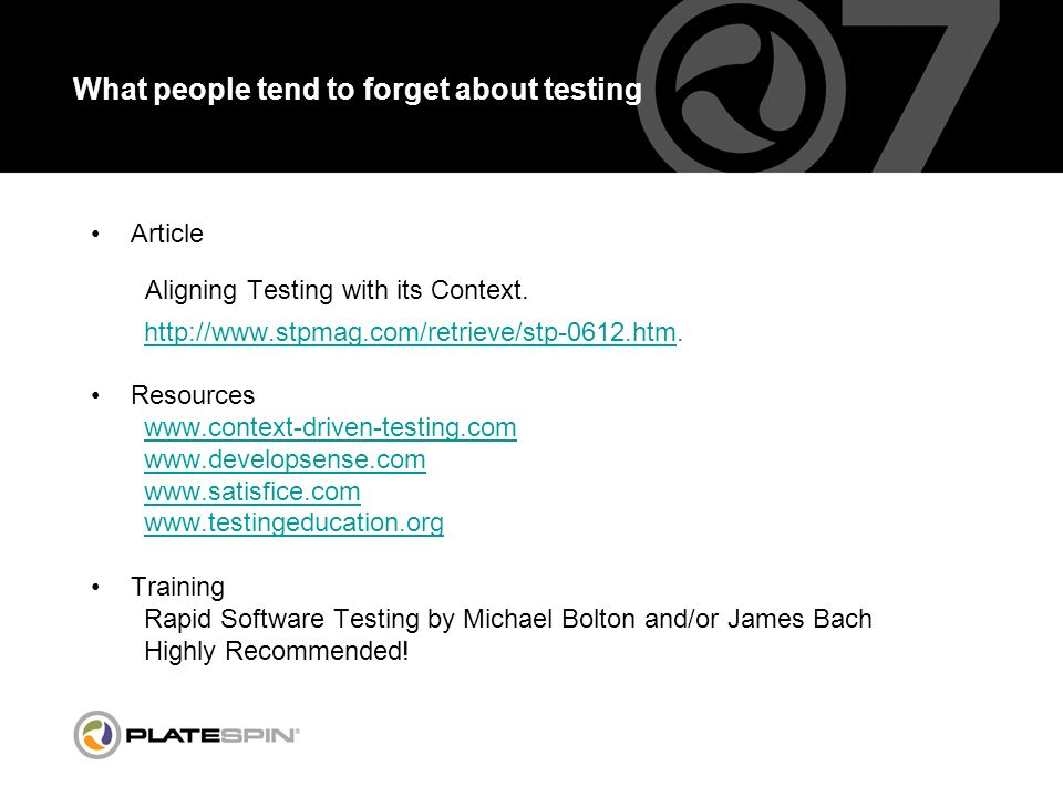 What people tend to forget about testing Article Aligning Testing with its Context.