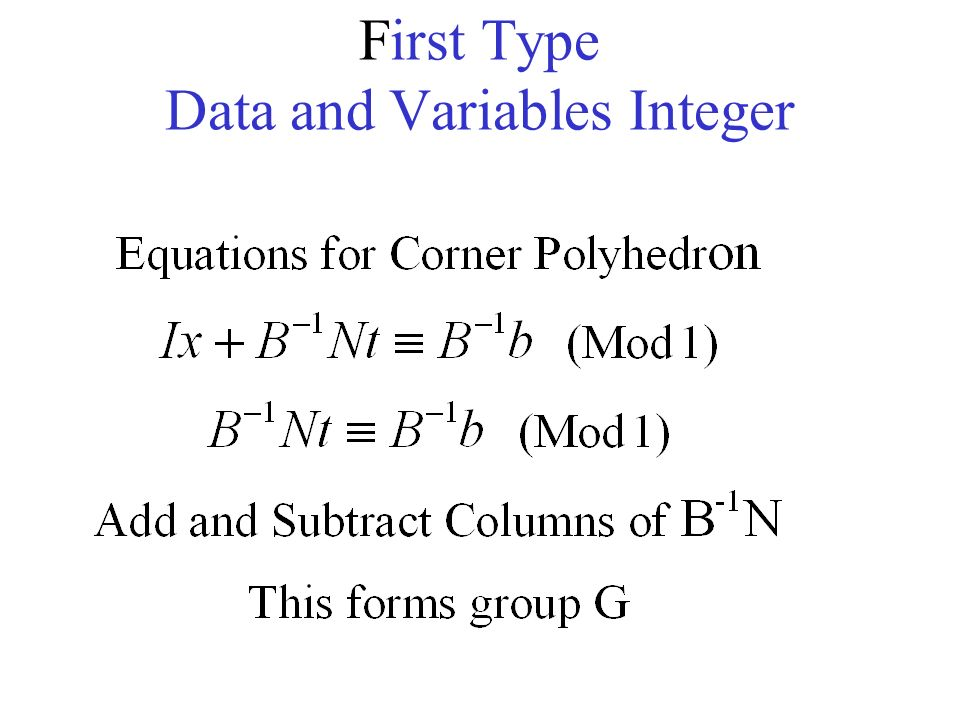 First Type Data and Variables Integer