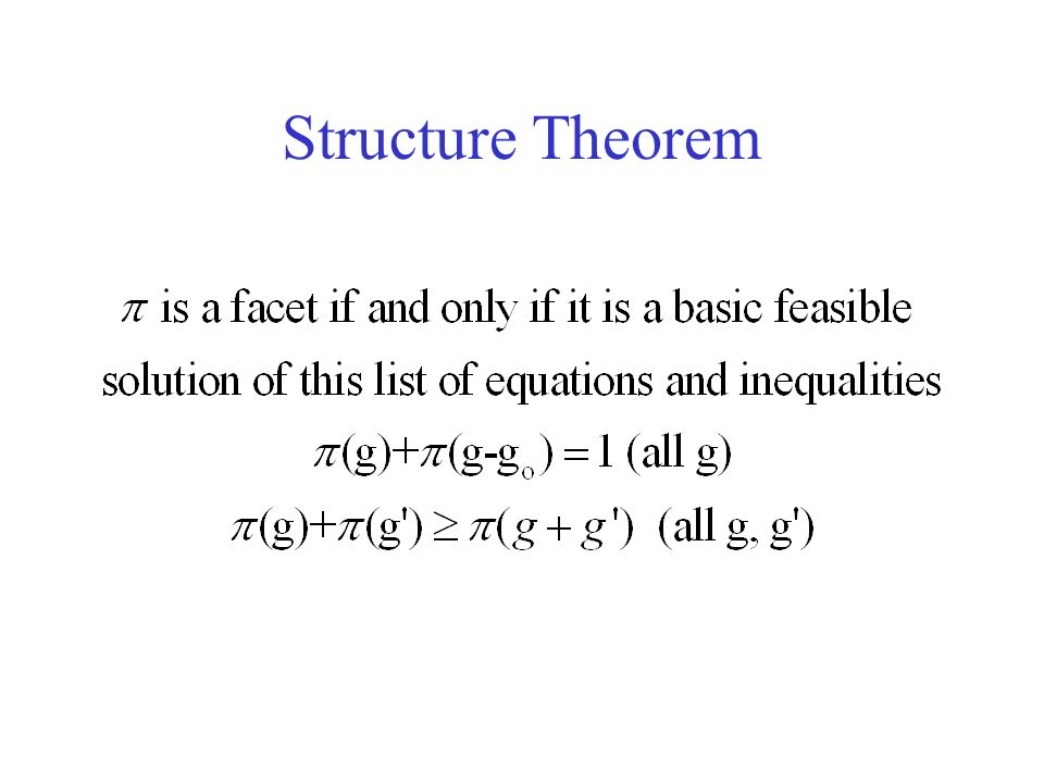 Structure Theorem