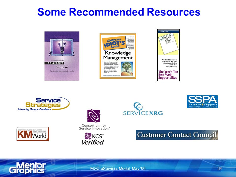 MGC eServices Model, May 0634 Some Recommended Resources