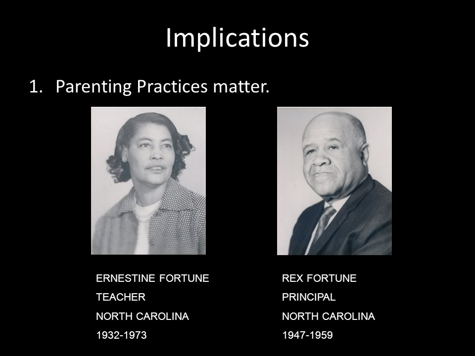 Implications 1.Parenting Practices matter.