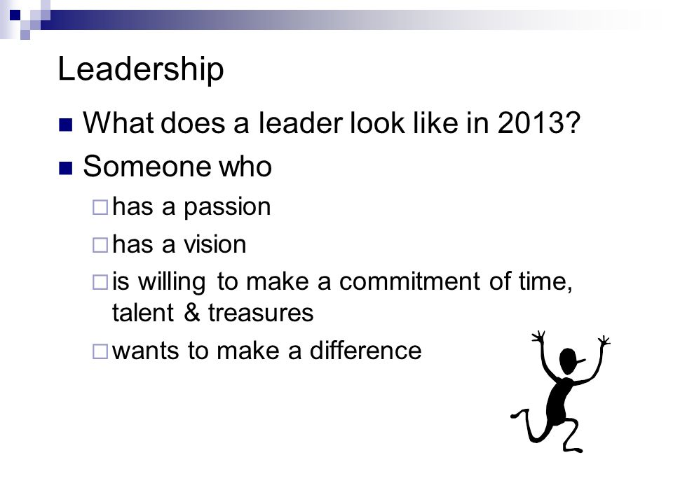 Leadership What does a leader look like in 2013.