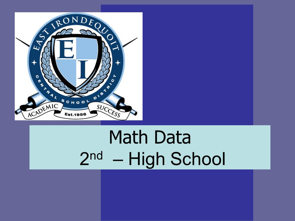 Math Data 2 nd – High School