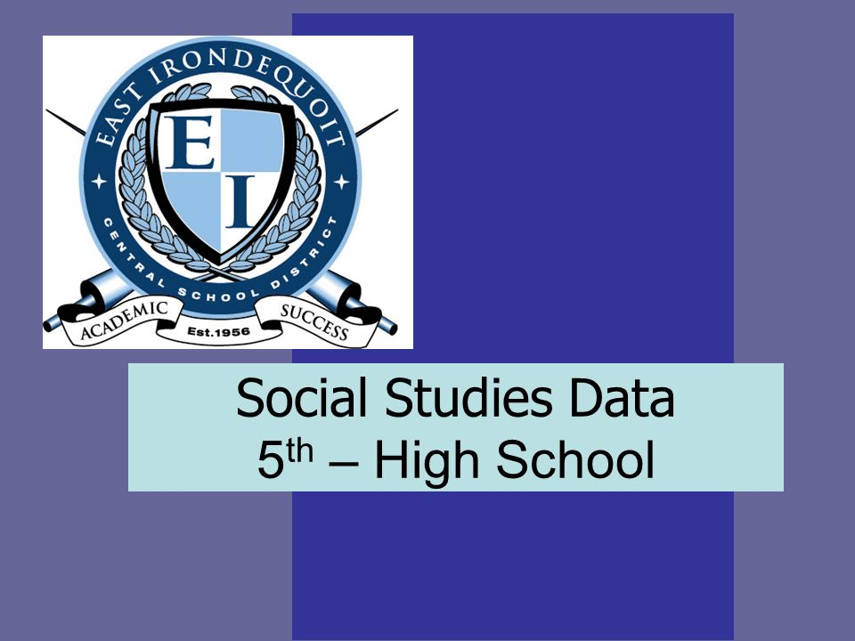 Social Studies Data 5 th – High School