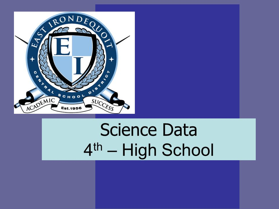 Science Data 4 th – High School