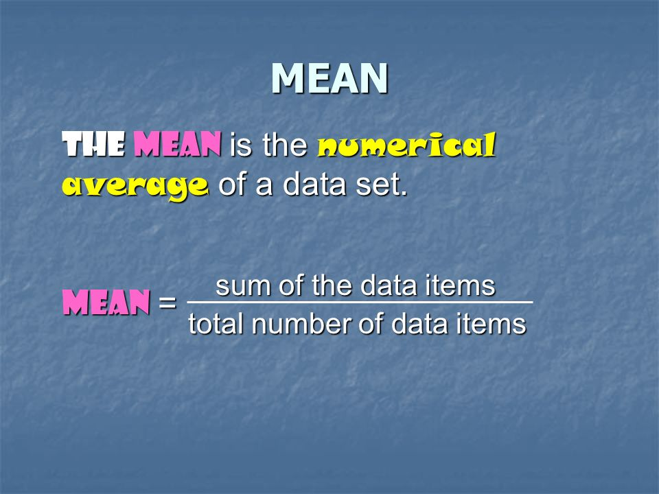To understand a set of data, you need to organize and summarize the values.