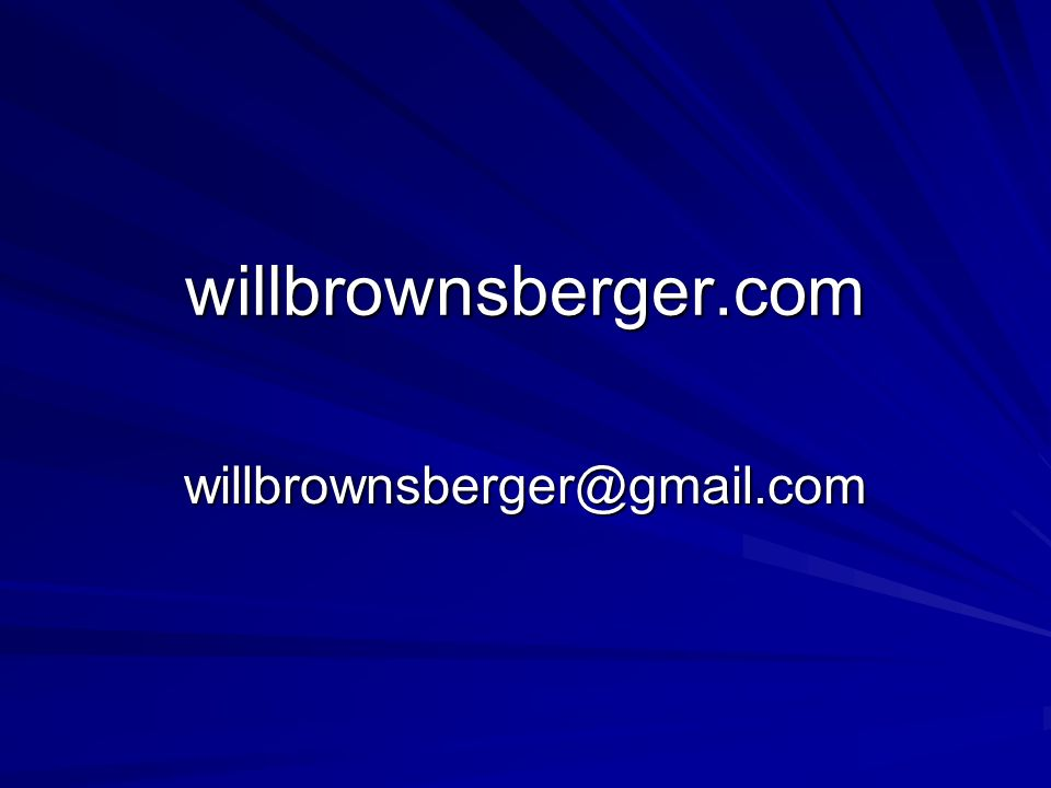 willbrownsberger.com