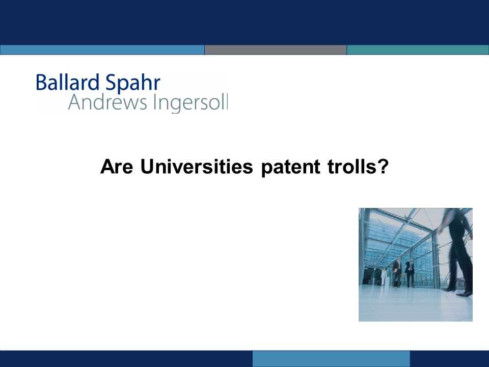 Are Universities patent trolls