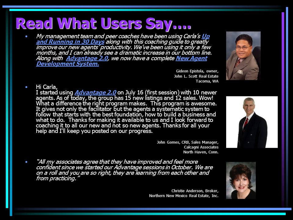 Read What Users Say….
