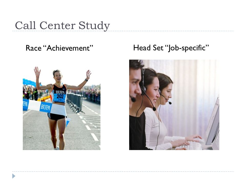 Call Center Study Race Achievement Head Set Job-specific