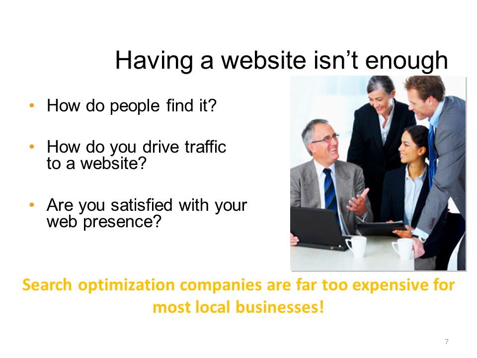 Having a website isnt enough How do people find it.