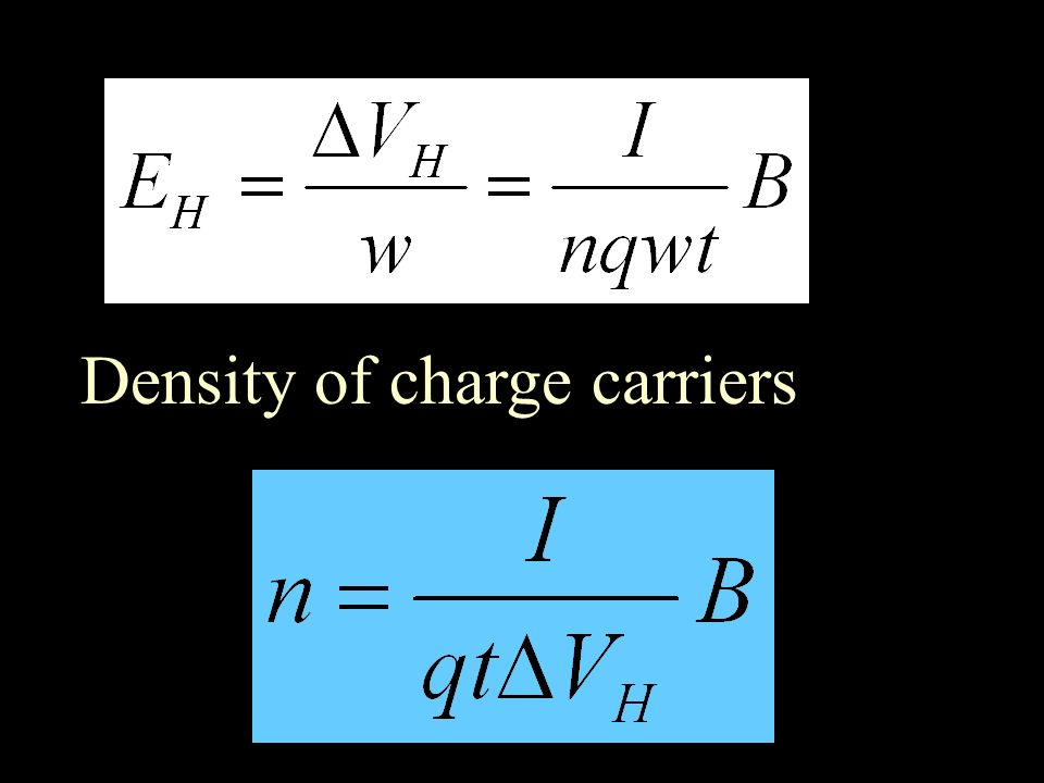 Density of charge carriers