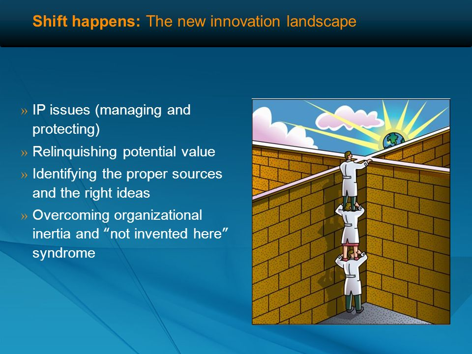 Shift happens: The new innovation landscape What barriers are impeding opening up the innovation process