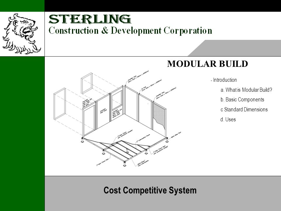 MODULAR BUILD - Introduction a. What is Modular Build.
