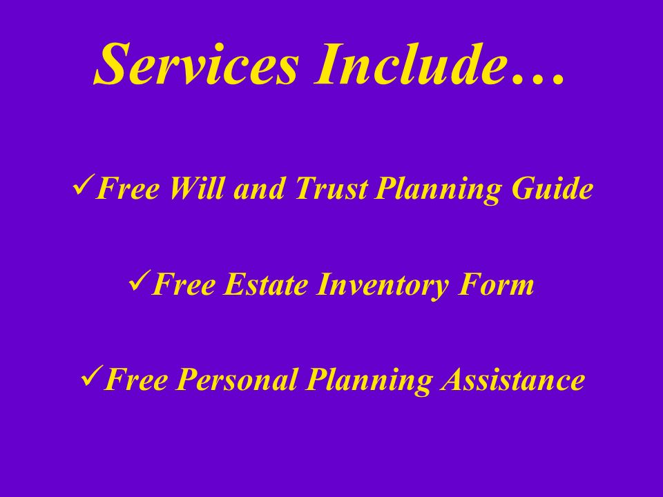 Estate and Planned Giving Services… K. Gene Christian, BA, MEA K.