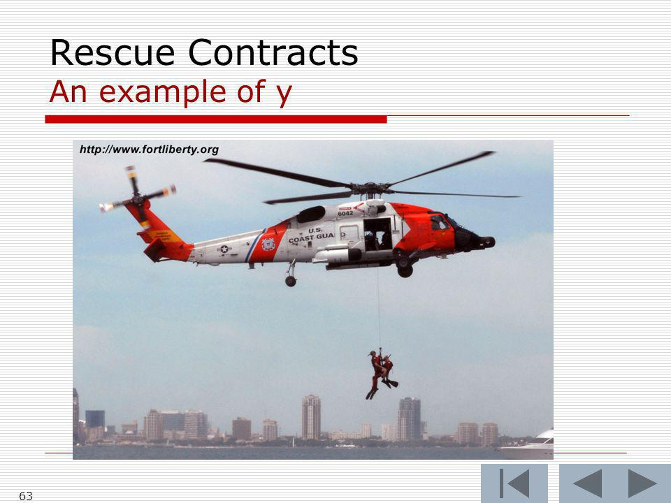 Rescue Contracts An example of y 63
