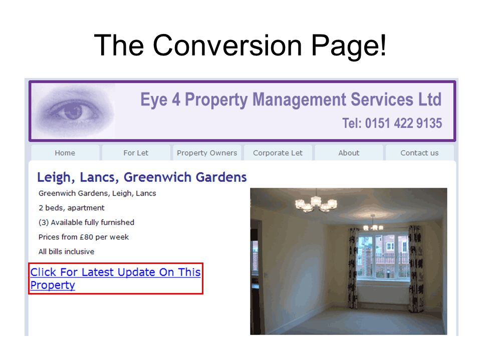 The Conversion Page!