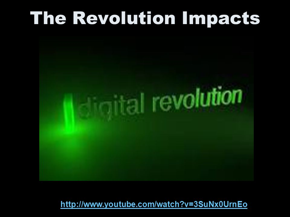 The Revolution Impacts http://www.youtube.com/watch v=3SuNx0UrnEo