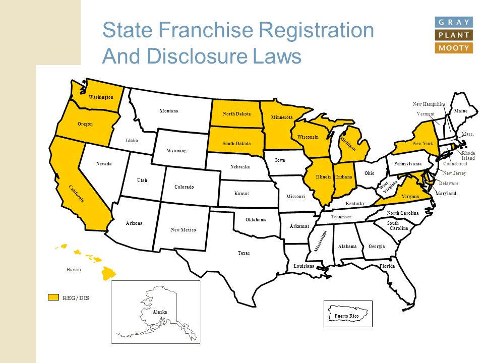 (c) 2011 Gray Plant Mooty 18 State Franchise Registration And Disclosure Laws