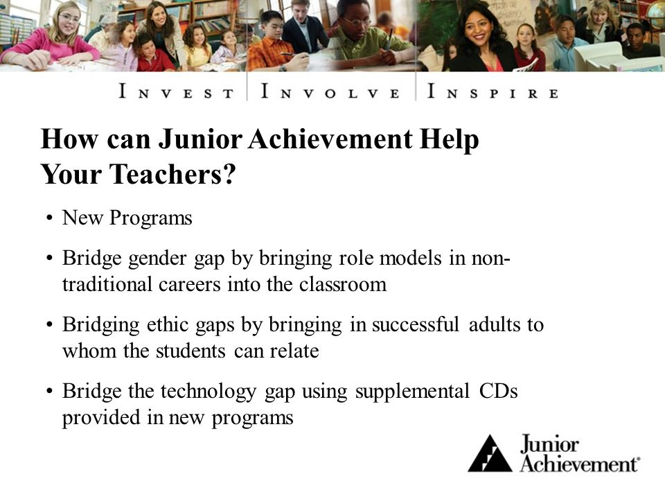 How can Junior Achievement Help Your Teachers.