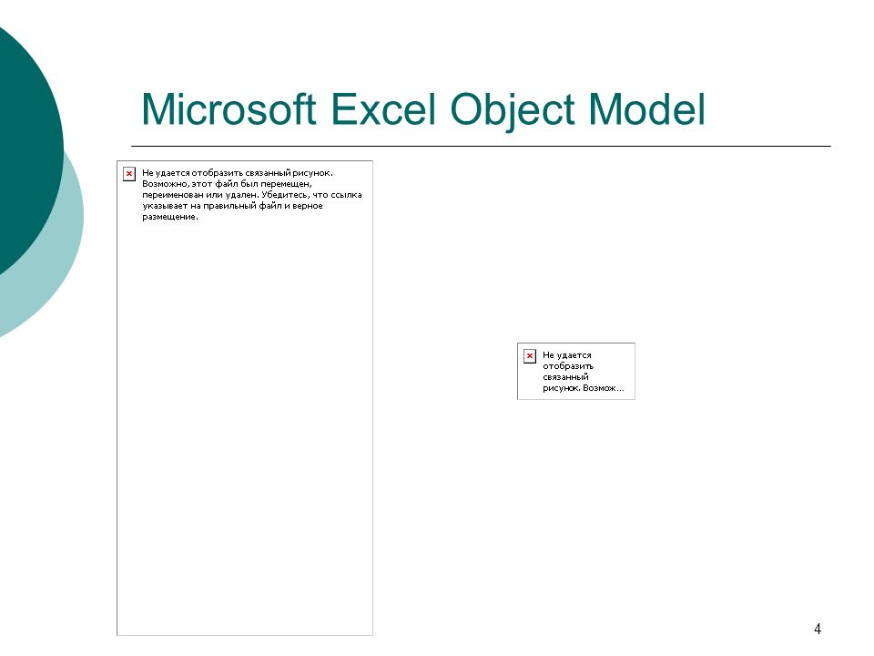 4 Microsoft Excel Object Model