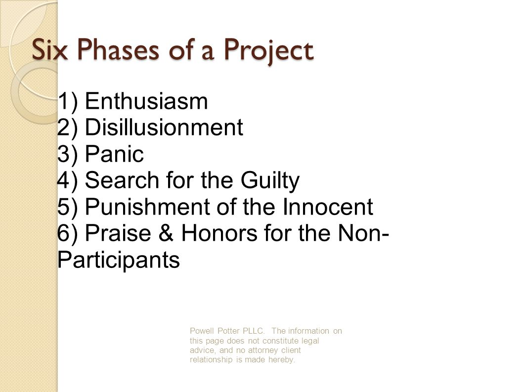 Six Phases of a Project Powell Potter PLLC.