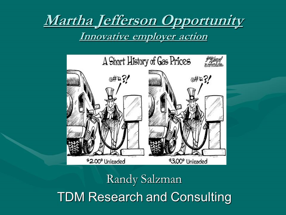 Martha Jefferson Opportunity Innovative employer action Randy Salzman TDM Research and Consulting