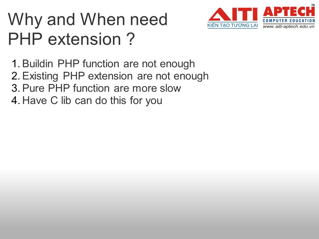 Why and When need PHP extension .