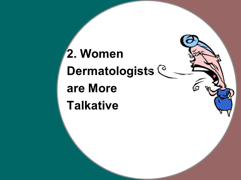 2. Women Dermatologists are More Talkative